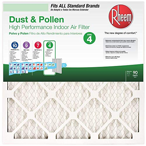 Rheem Basic Household 21.5 in. x 23.5 in. x 1 in. Pleated...