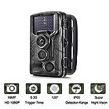 SUNTEKCAM 3G Cam/éra de Chasse Cam/éra de Surveillance /Étanche 16MP 1080P HD 25m Grand Angle 120/° De Vision Nocturne Traque IR Cam/éra de Jeu Nocturne Infrarouge HC-330G