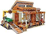 Bloques de construcción de modelos arquitectónicos de cabaña de pescador, bloques de construcción de mini modelos, juguetes educativos creativos para niños DIY. 2004,2027pcs