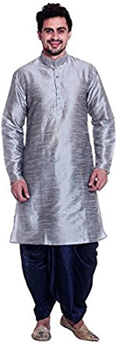 Royal Kurta Men's Silk Blend Dhoti  Kurta