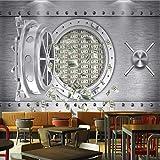 Hwhz Personalizado 3D Personalidad Caja Fuerte Us Dollar Mural Industrial Wind Restaurant Hotel Fondos De Pantalla En La ParedB-350X250Cm