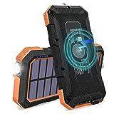 FEELLE Cargador Solar 24000mAh Wireless Power...