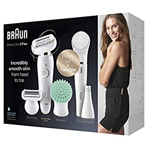 Braun Silk-epil 9 Flex 9300 Beauty Set Wet & Dry depilador con 8 extras incl. Braun FaceSpa