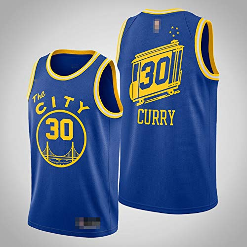 LYY Jerseys De Baloncesto para Hombres, NBA Golden State Warriors # 30 Stephen Curry - Classic Comfort Quick-Secking Secado Sin Mangas Sin Mangas Tops Camiseta Uniformes,M(170~175CM)