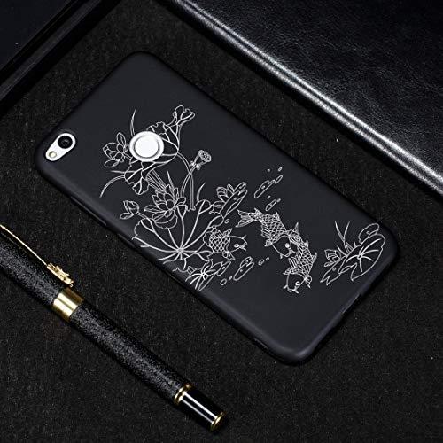 LICHONGGUI Estuche de TPU Suave con patrón Pintado de Lotus Pond for Huawei P8 Lite