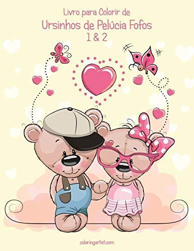 Livro para Colorir de Ursinhos de Pelúcia Fofos 1 & 2