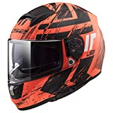 LS2 Helmets Citation Hunter Orange Graphic Unisex-Adult Full-Face-Helmet-Style Motorcycle Helmet (Matte Orange, XX-Large)