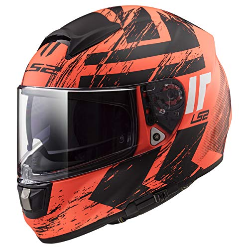 LS2 Helmets Citation Hunter Orange Graphic Unisex-Adult Full-Face-Helmet-Style Motorcycle Helmet (Matte Orange, XX-Large)