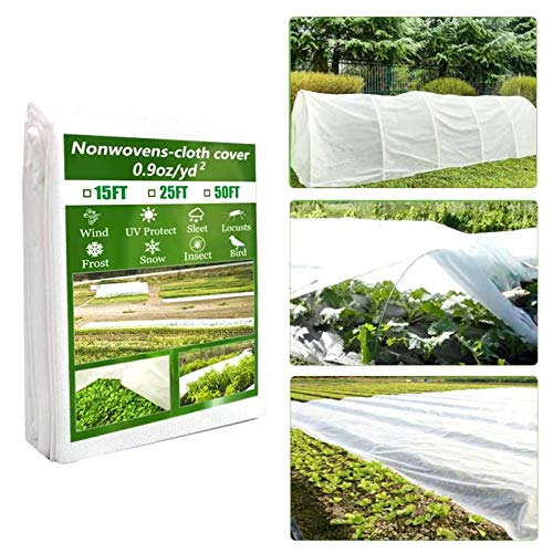 ICBESTTOOL Plant Covers 8Ft × 50Ft, Freeze-Protection Floating Row Cover, Reusable Frost Blankets, Sun-Protection Fabric for Plants