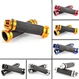 Universal Pair Of 7/8' 22mm Rubber Handlebar Hand Grip Bar End For Motorcycle Bike Cafe Racer