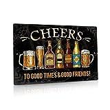 Putuo Decor Cheers Metal Tin Sign Bar Pub Man Cave Wall Decor 8'x12'