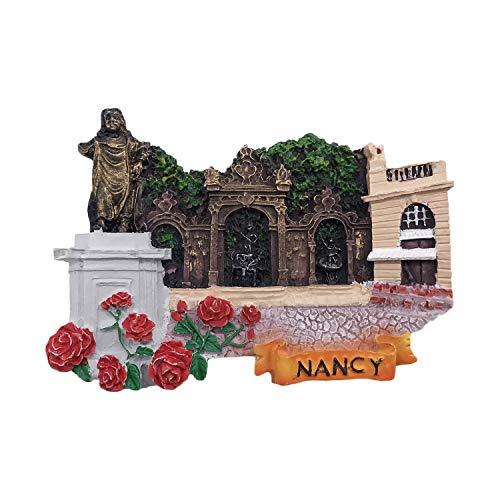 3D Nancy Frankreich Kühlschrank Kühlschrankmagnet Tourist Souvenirs Handmade Harz Handwerk Magnetischen Aufkleber Home Küche Dekoration Reise Geschenk