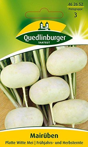 Mairüben, Platte Witte Mei, Brassica rapa var. rapa, ca. 500 Samen