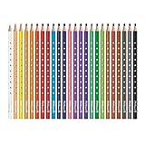 Pelikan 700665 Matite Colorate per Bambini, 24 Colori Silverino, Scorta Scuola, Forma Triangolare Ergonomica, Diametro Spessore 3 mm, Grip Antiscivolo, Legno FSC