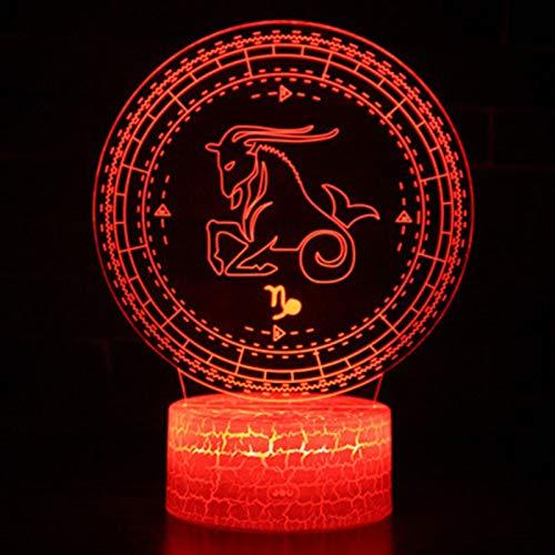 3D Widder-Logo Illusion Lampe Nachtlicht 7 Farben Touch schalter USB Einsatz LED Licht Fernbedienung Nachtlicht Weihnachtsgeschenk Kinder Schlafzimmer