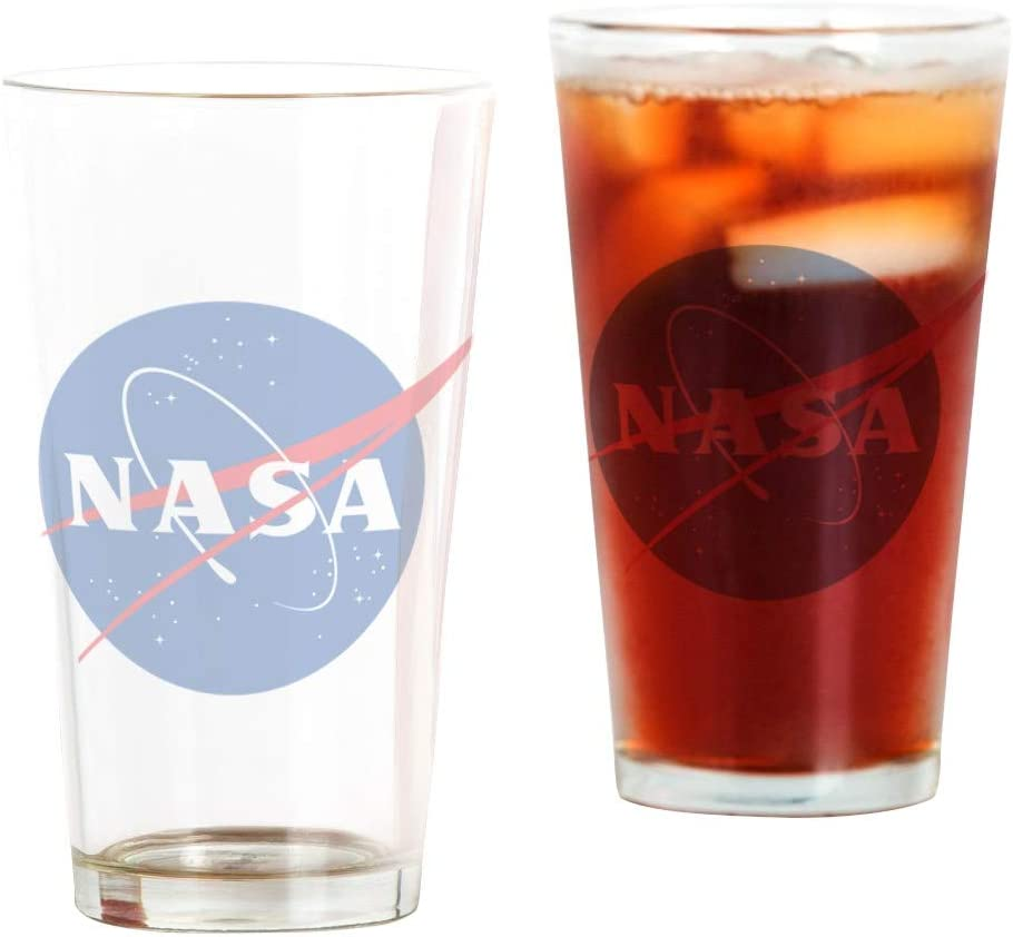 16 oz CafePress NASA Logo Pint Glass Drinking Glass
