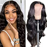 Body Wave Lace Front Wigs Human Hair Pre Plucked with Baby Hair Glueless 4x4 Lace Closure Wigs Human Hair for Black Women Natural Color 150 Density (18inch, Human Hair Wigs)