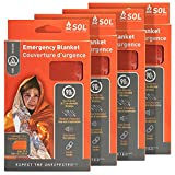 S.O.L. Survive Outdoors Longer S.O.L. 90% Reflective Emergency Blanket, Pack of 4