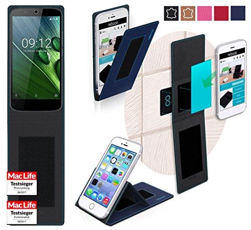 reboon Hülle für Acer Liquid Zest Plus Tasche Cover Case Bumper   Blau   Testsieger