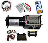 D-Rhino Vehicle Recover Electric Winch Kit 3000 lb Load Capacity Remote 12V ATV...