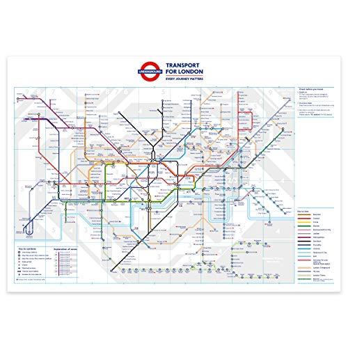 stika.co Standaard Londen Ondergrondse Tube Station Kaart Poster - 200gms Posterpapier