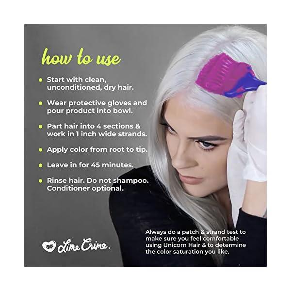 Lime Crime Unicorn Hair Dye, Juicy - Fuschia Fantasy Hair Color - Full Coverage, Ultra-Conditioning, Semi-Permanent, Damage-Free Formula - Vegan - 6.76 fl oz 7