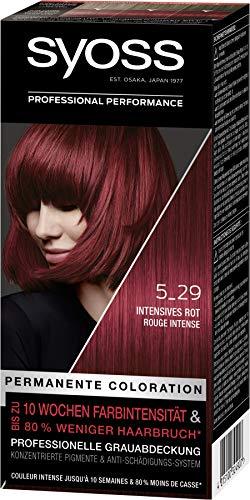 SYOSS Coloration, Haarfarbe Stufe 3 5_29 Intensives Rot, bis zu 10 Wochen Farbintensität, 3er Pack (3 x 115 ml)