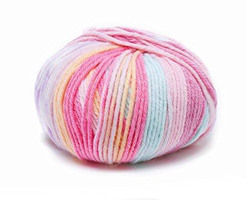 Rico Baby Dream DK FB. 002, Blanda Baby lana con colores suman Sharma para camiseta & ganchillo