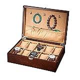 JIANGCJ Bella 12 Slot Watch Box Organizer Men Collector Wristwatch Caja Joyería y Reloj Organizador Soporte de joyería Grande y Estuche