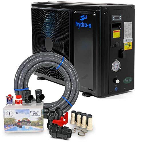 Hydro-S Wärmepumpe/Poolheizung + Flexrohr + Bypass Set/Typ A13/32 bis 40m³