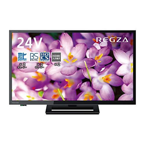 東芝 24V型 液晶テレビ レグザ 24S22 ハイビジョン 外付けHDD ウラ録対応 (2018年モデル)