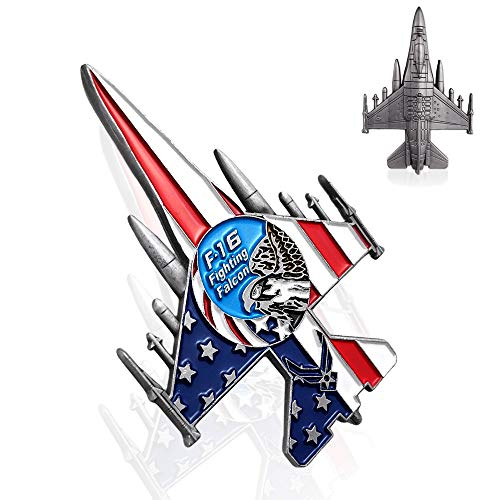 Indeep United States Air Force Challenge Coin F-16 Fighting Falcon Military Coin for Airman