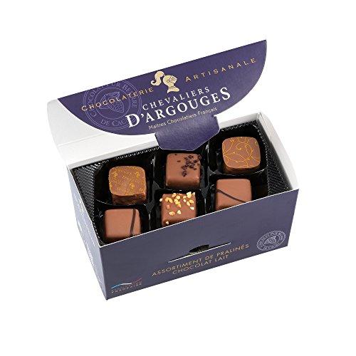 CHEVALIERS DARGOUGES Maîtres Chocolatiers Français Maîtres Chocolatiers Français Assortiment de Chocolats Lait Ballotin Dégustation 185 gramme