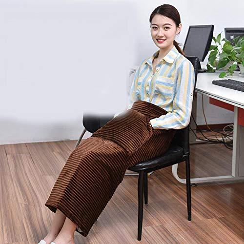 GAOWF 90X80cm Leg Warmer Artifact Small Cover Leg Electric Blanket Heating Seat Cushion Foot Warmer Knee Pad Office Blanket,Brown