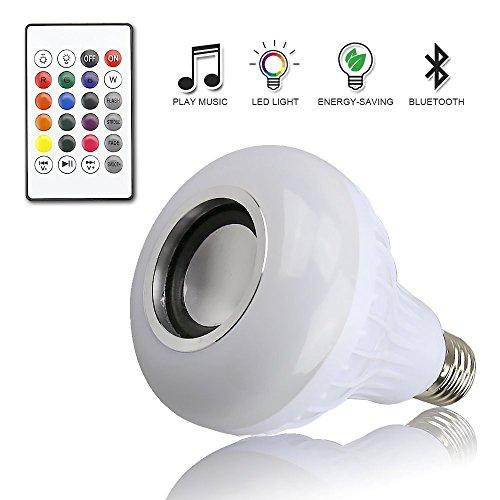 Preisvergleich Produktbild Muamaly Musicled Glühbirne Fernbedienung Musikbirne Bluetooth 3.0 Led Smart Lampe Farbwechsel Musik GlüHbirne E27 12W Lautsprecher Birne Dimmbare Rgb Licht Echo-Lautsprecher Mit Fernbedienung