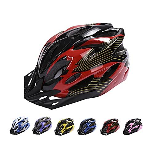 Casco da bicicletta, mountain bike, da adulto, regolabile, con visiera rimovibile, per mountain bike, City Specialized, senza fuoristrada, per uomini e donne (rosso)