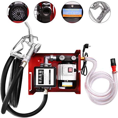 VEVOR 60L Dieselpumpe,550W Selbstansaugende Heizölpumpe Mit Zählwerk ,Bequemes Tanken für Heizöl und Diesel