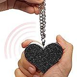 Guard Dog Security Heartbeat Keychain Alarm for Women, 130dB Siren, Personal Defense Alarm (Black)