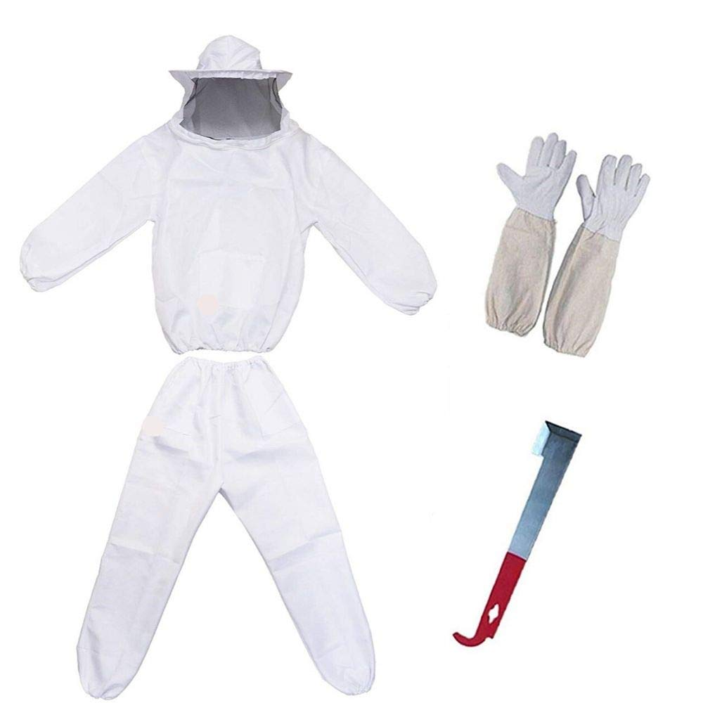 Professional Beekeeping Wears Beekeepers Bee Suit With Free Leather Gloves