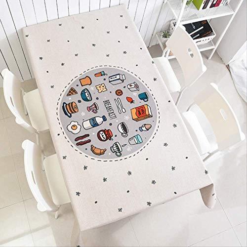 Leeg Polyester tafelkleed, Voedselpatroon, Waterdicht Gemakkelijk te reinigen Cover Handdoek, Geschikt voor Familie Eettafel, Picknick, Partij 140x200cm