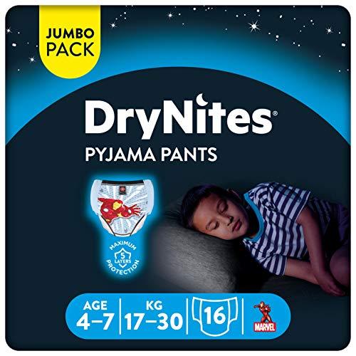 Huggies DryNites, 4 - 7 años niño, 16 pañales