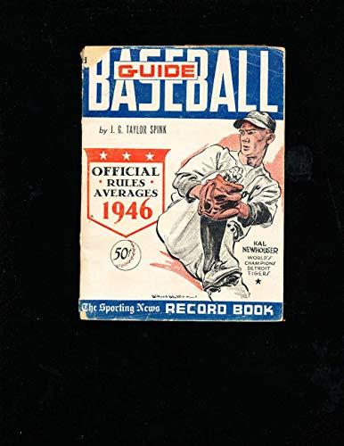 1946 Baseball Guide TSN ex corner cover paper loss bxbg