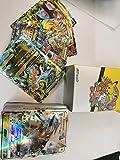 Wizsoula 100 Pezzi Poke-Mon Carte, Set di Carte Pokemon da Carte da Gioco, Giochi di Carte Pokemon Carta, Series Ex Carte Mega (95 * GX + 5 * Mega)