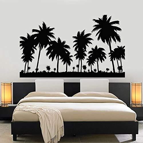 ASFGA Outdoor Sport Wandaufkleber Sun Jungle Palm Tree Coconut Beach Urlaub Urlaub Abenteuer Wohnzimmer Schlafzimmer Tee Restaurant Möbelzubehör Club Geschenkfabrik 42x70cm