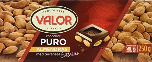 Chocolates Valor Choholate Puro Almendras con Marconas Enteras, 250g
