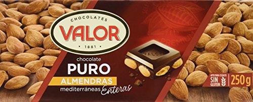 Chocolates Valor - Choholate Puro Almendras con Marconas Enteras - 250 g