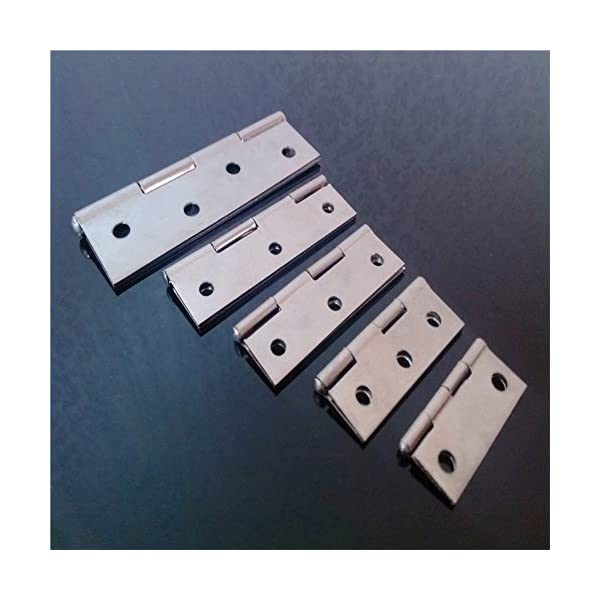 10/ pcs acero inoxidable Home muebles Hardware Puerta Bisagra largo 55/ mm x 34/ mm