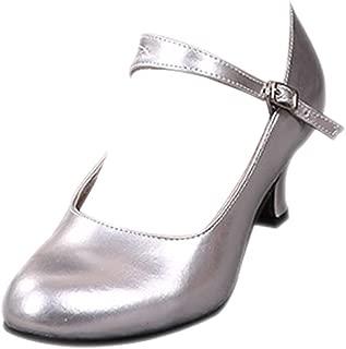 KINDOYO PU Mirror Leather Kitten Heel Tango Ballroom Latin Waltz Dance Glitter Shoes Women's