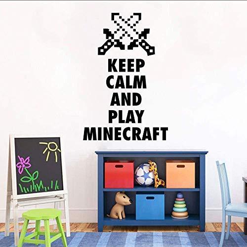 Cartoon Spiel Wandkunst Poster Minecraft Pfeil Wandaufkleber Spiel Poster Aufkleber Wandbild Abnehmbare Familien Schlafzimmer Dekoration 57X86Cm
