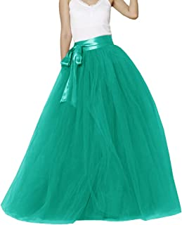 Women Floor Length Bowknot 5-Layered Tulle Party Evening...